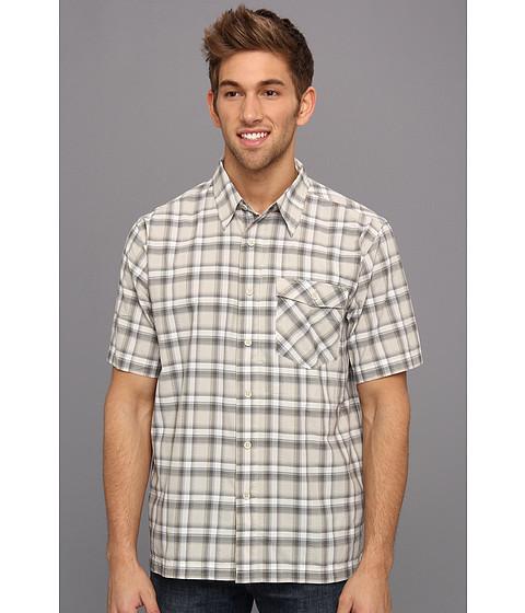 Royal Robbins - Slickrock Plaid S/S (Sandstone) Men's Short Sleeve Button Up