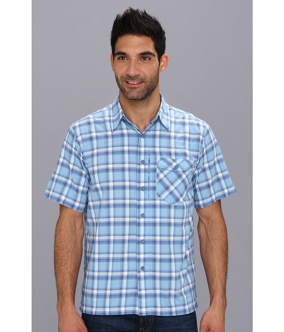 Royal Robbins - Slickrock Plaid S/S (Bay Blue) Men's Short Sleeve Button Up