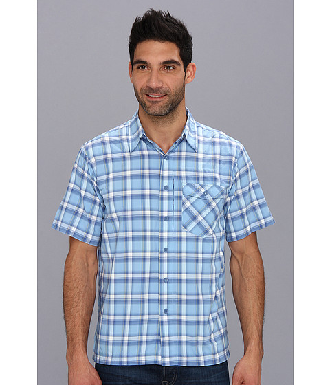 Royal Robbins - Slickrock Plaid S/S (Bay Blue) Men's Short Sleeve Button Up