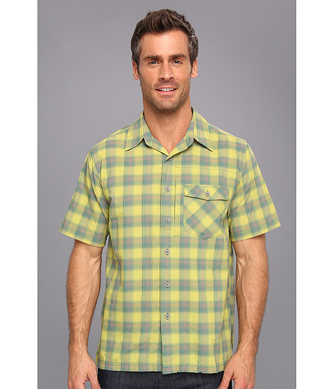 Royal Robbins - Slickrock Plaid S/S (Light Evergreen) Men's Short Sleeve Button Up