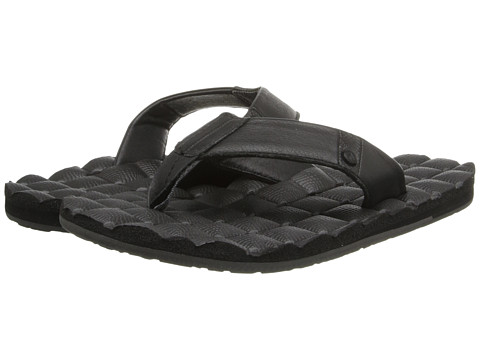 Volcom - Recliner Leather (Black) Men's Sandals