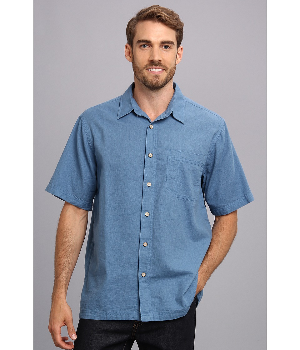 Royal Robbins - Cool Mesh S/S (Stone Blue) Men's Short Sleeve Button Up