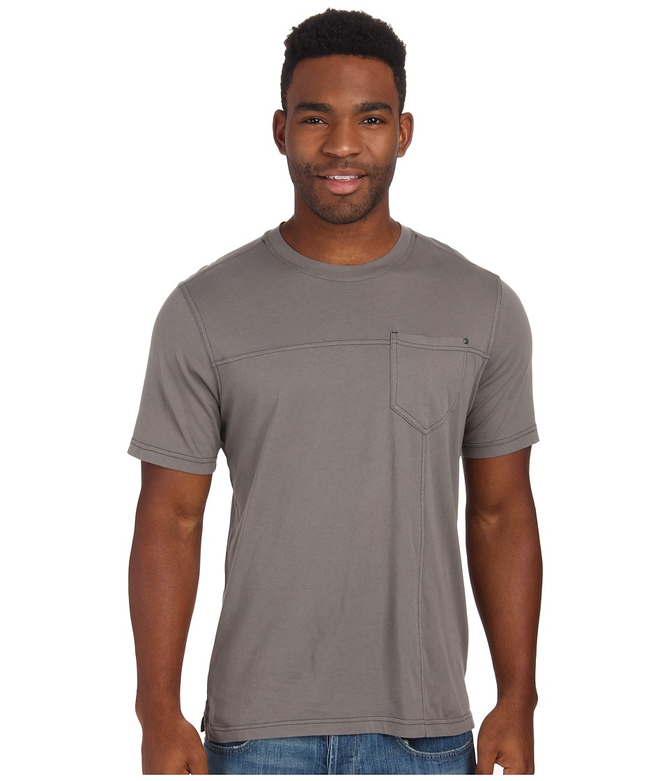 Royal Robbins - Organic Jersey S/S Crew (Pewter) Men's Short Sleeve Pullover