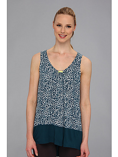 SALE! $14.99 - Save $23 on Ellen Tracy Anyway Anywhere S L Top (White Dark Blue Print) Apparel - 60.55% OFF $38.00