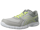 Reebok Walkfusion RS Leather (Steel/Flat Grey/Lemon Zest/White) Women's Walking Shoes
