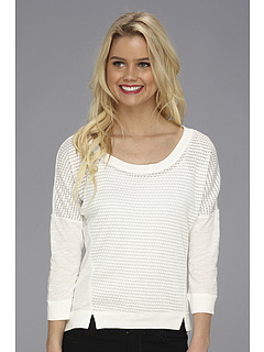 SALE! $17.99 - Save $22 on UNIONBAY Bellrose Lurex Pointelle Dahlia (Flour) Apparel - 55.03% OFF $40.00