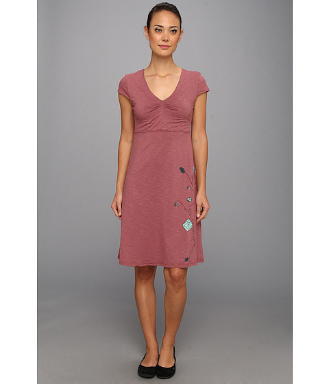 Toad&Co - Rose Marie Dress (Rosewood Placement Print) Women's Dress