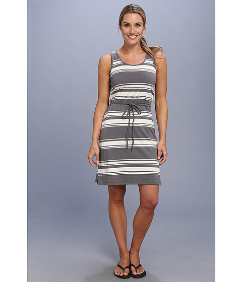Toad&Co - Keyhole Dress (Smoke Stripe/Egret) Women's Dress