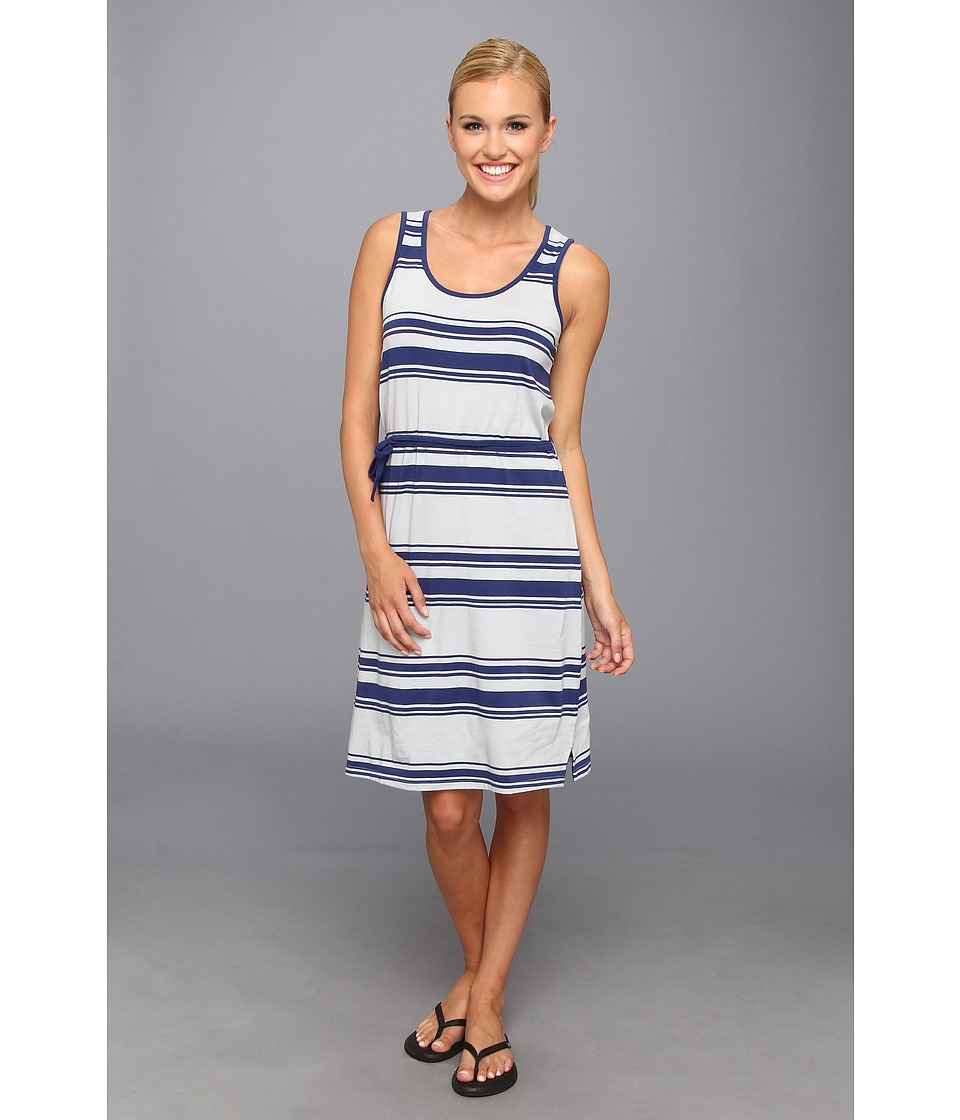 Toad&Co - Keyhole Dress (Breton Blue Stripe/Pearl Blue) Women's Dress
