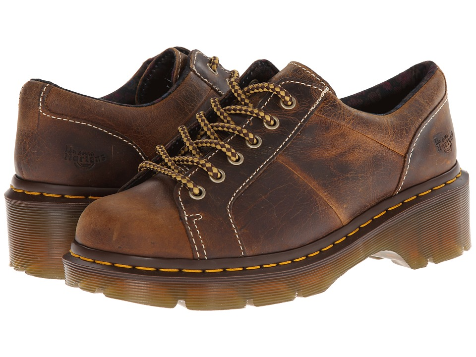 Dr. Martens - Keani Lace to Toe Shoe (Tan Greenland) Women's Lace up casual Shoes