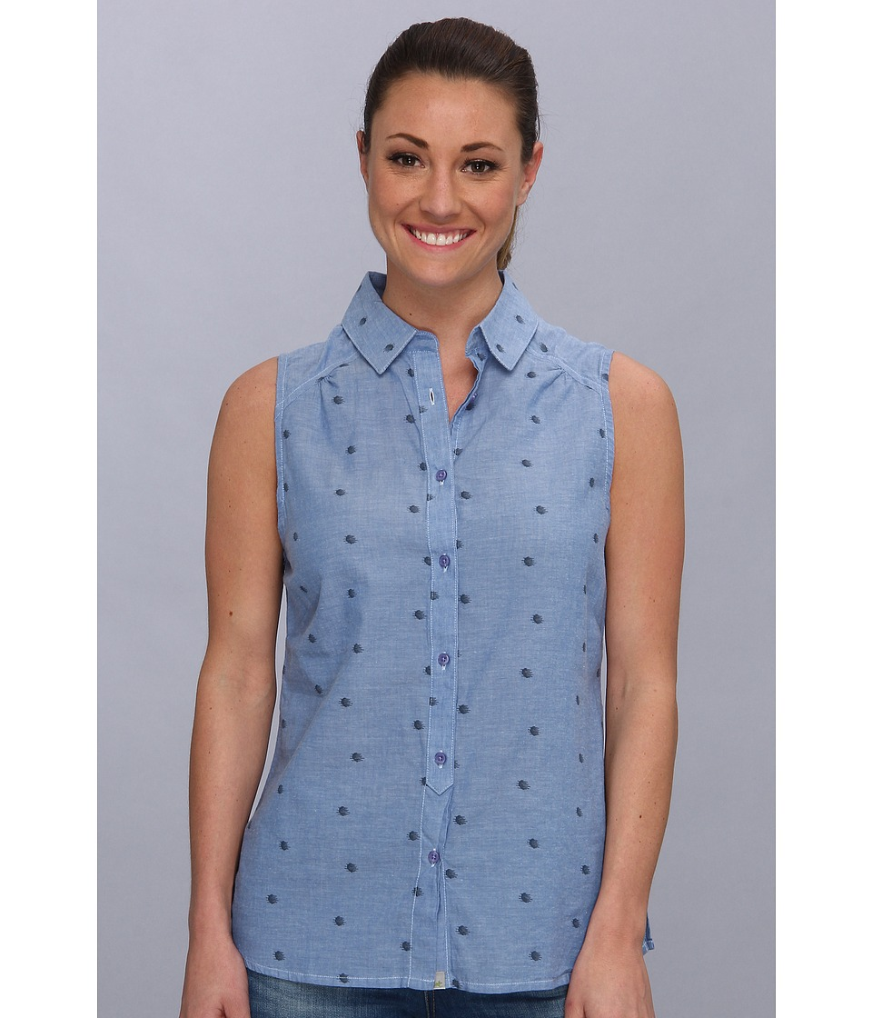 Toad&Co - Rizzo Sleeveless Shirt (Blue Print) Women's Sleeveless