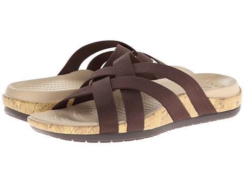 Crocs - Edie Stretch Sandal (Espresso/Espresso) Women's Shoes
