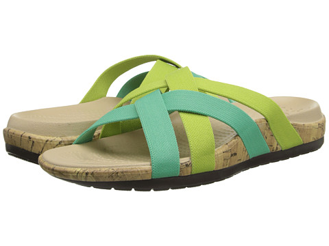 Crocs - Edie Stretch Sandal (Spearrmint/Crisp Green) Women's Shoes