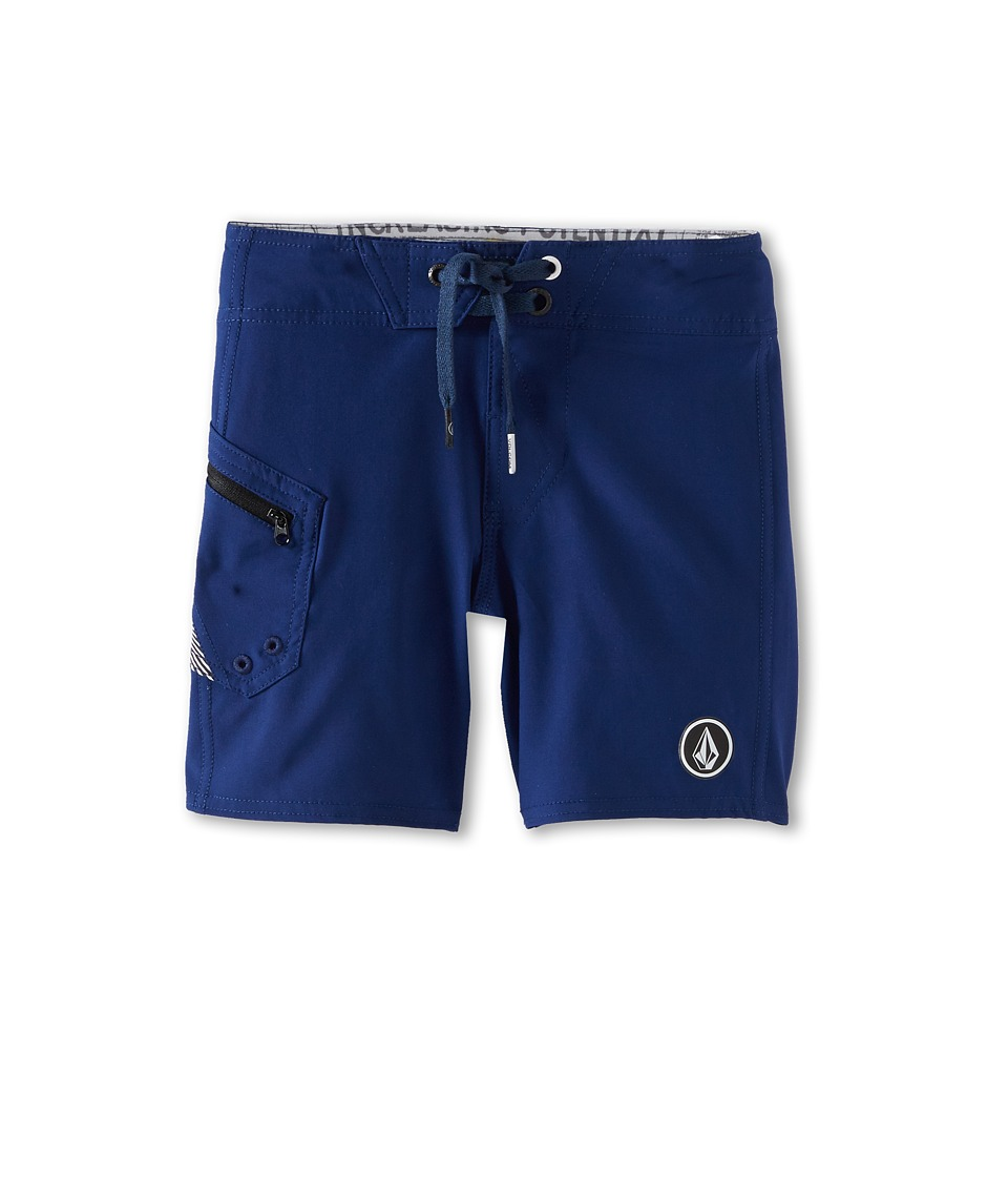 Volcom Kids - Lido Solid Boardshort (Big Kids) (Navy) Boy's Swimwear