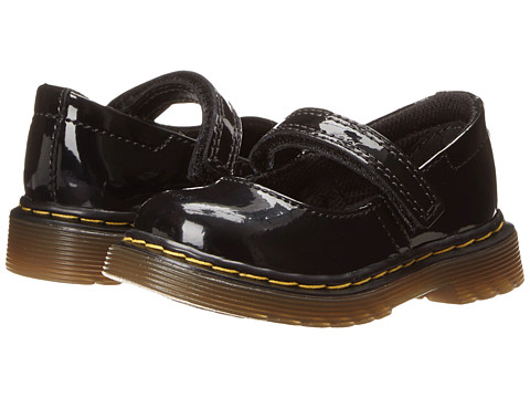 Dr. Martens Kid's Collection - Tully Mary Jane (Toddler) (Black Patent Lamper) Girls Shoes