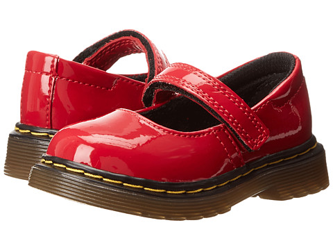 Dr. Martens Kid's Collection Tully Mary Jane (Toddler) (Red Patent Lamper) Girls Shoes