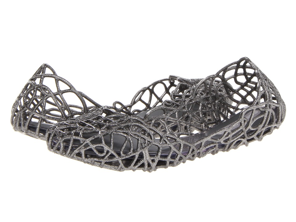 Melissa Shoes - Campana Sapatilha VI (Silver Glitter) Women's Slip on Shoes