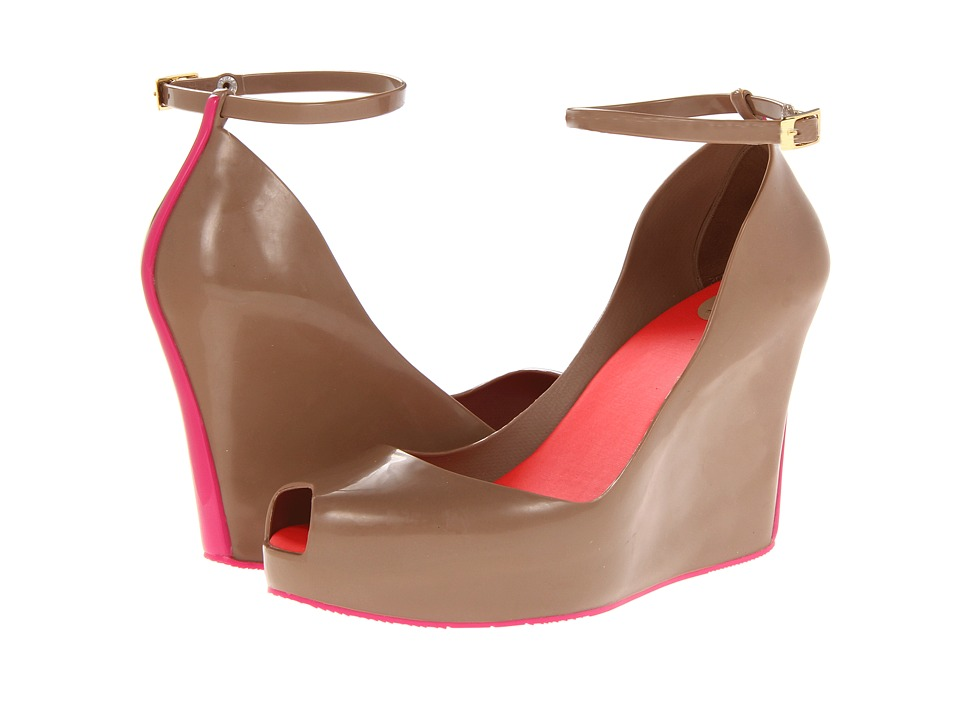 Melissa Shoes - Patchuliv (Brown/Pink) High Heels