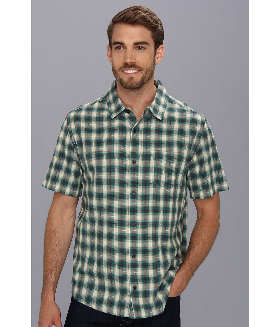 Toad&Co - Open Air S/S Shirt (Deep Blue Green) Men's Short Sleeve Button Up