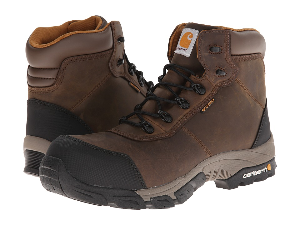 Carhartt - Lightweight Waterproof Work Hiker Composite Toe 2 (Bal Brown) Men's Work Boots