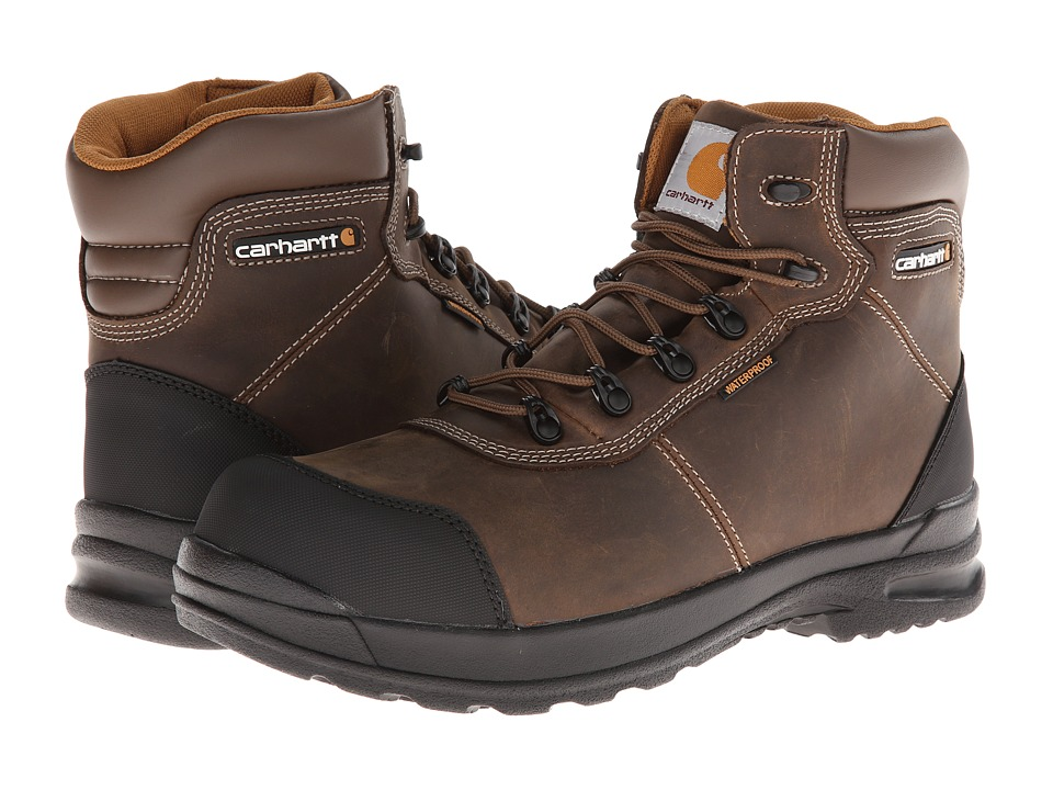 Carhartt - 6-Inch Stomp Light Waterproof Work Boot (Chocolate Brown Oil Tanned Leather) Men
