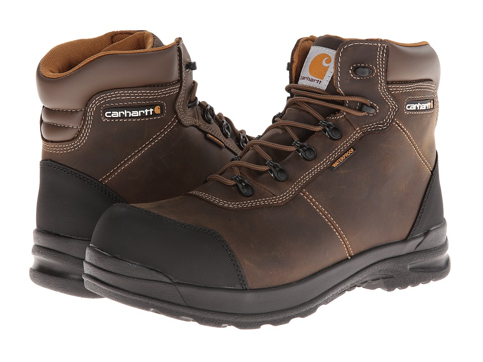 Carhartt - 6-Inch Stomp Light Waterproof Composite Toe Work Boot (Bal Brown) Men's Work Boots