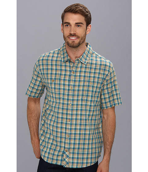 Toad&Co - Smythy S/S Shirt (Deep Blue Green) Men's Short Sleeve Button Up