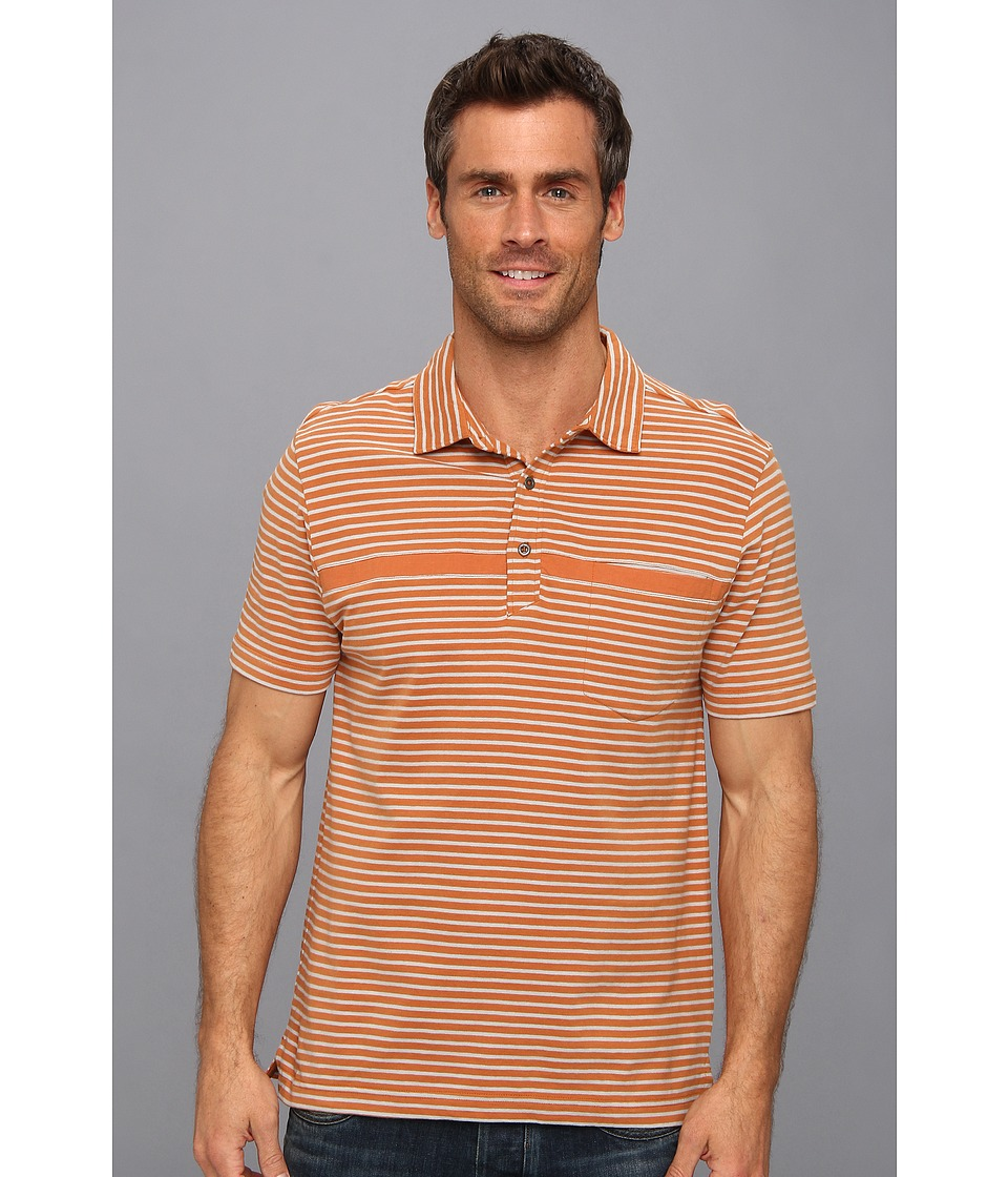 Toad&Co - Jack Polo Shirt (Adobe/Quarry Stripe) Men's Short Sleeve Pullover