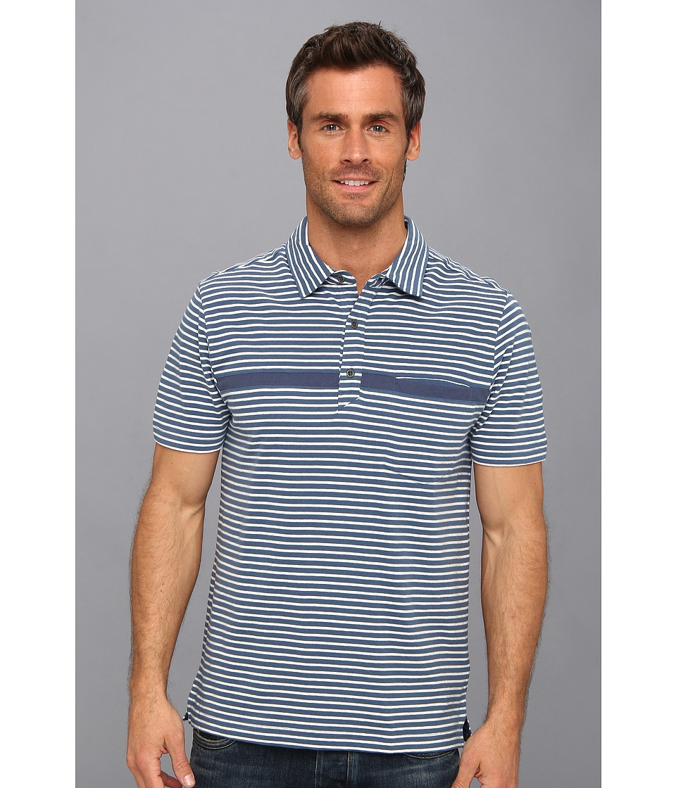 Toad&Co - Jack Polo Shirt (Deep Blue/Foggy Stripe) Men