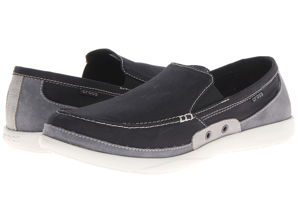 Crocs Walu Accent Loafer (Black/Charcoal) Men