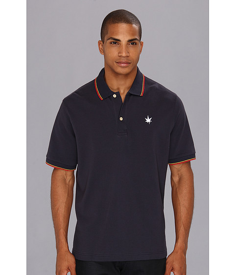 Boast - Tipped Pique Polo (Navy) Men