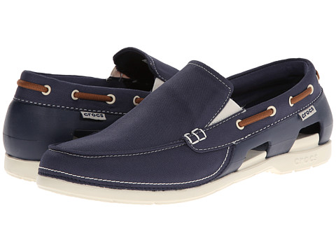 Crocs - Beach Line Boat Slip (Navy/Stucco) Men's Shoes