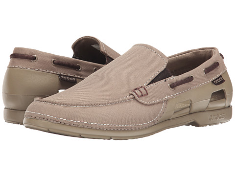 Crocs - Beach Line Boat Slip (Khaki/Khaki) Men's Shoes