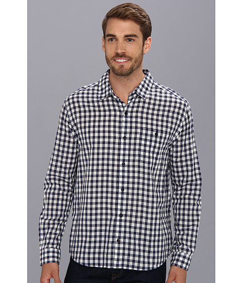 Toad&Co - Cuba Libre L/S Shirt (Bright Navy) Men's Long Sleeve Button Up