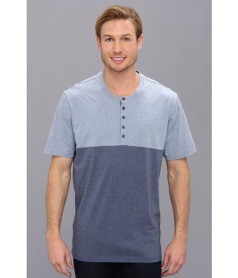 Toad&Co - Blockout S/S Henley (Deep Blue Heather) Men