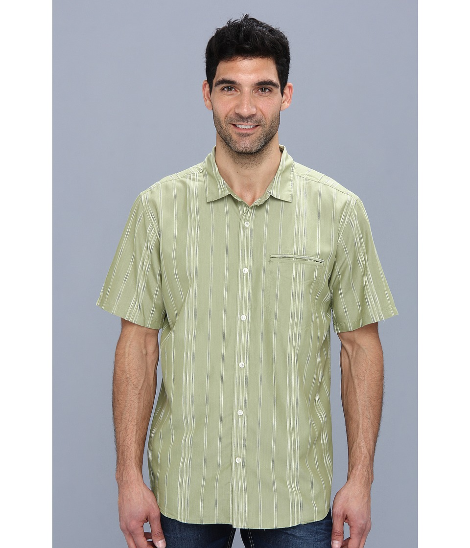 Toad&Co - Cardshark Shirt (Swamp) Men's Short Sleeve Button Up