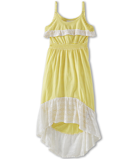 Roxy Kids - Kittridge Dress (Big Kids) (Blazing Yellow Mini Stripe) Girl