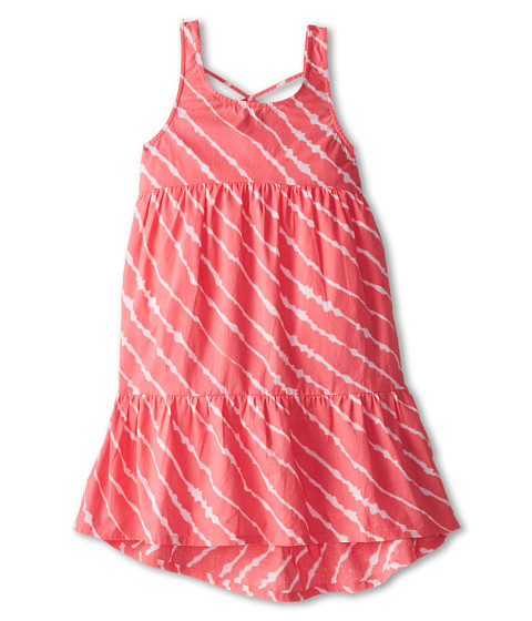 Roxy Kids - Oleander Dress (Big Kids) (Glow Pink Tie Dye Stripe) Girl's Dress