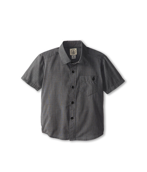 Volcom Kids - Weirdoh Solid S/S Woven (Toddler/Little Kids) (Black) Boy's Short Sleeve Button Up