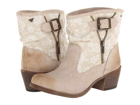 Roxy - Micah (Cream) Women's Zip Boots