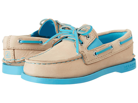 Sperry Top-Sider Kids - A/O Gore (Toddler/Little Kid) (Silver Cloud/Neon Blue) Girls Shoes