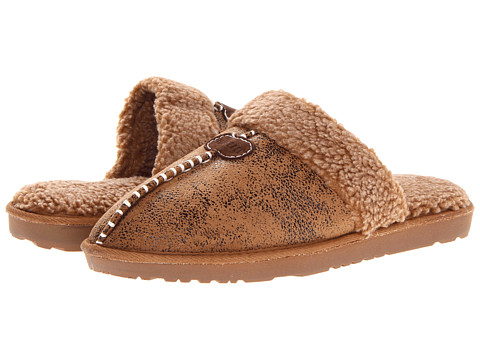 M&F Western - Center Seam Slide Slipper (Distressed Brown) Men