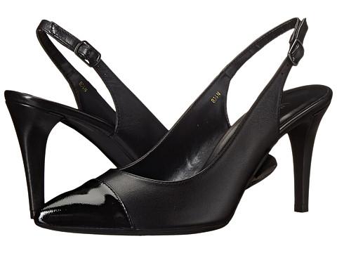 Vaneli - Anita (Black Ecco Nappa/Black Ecco Smack Met Patent) High Heels