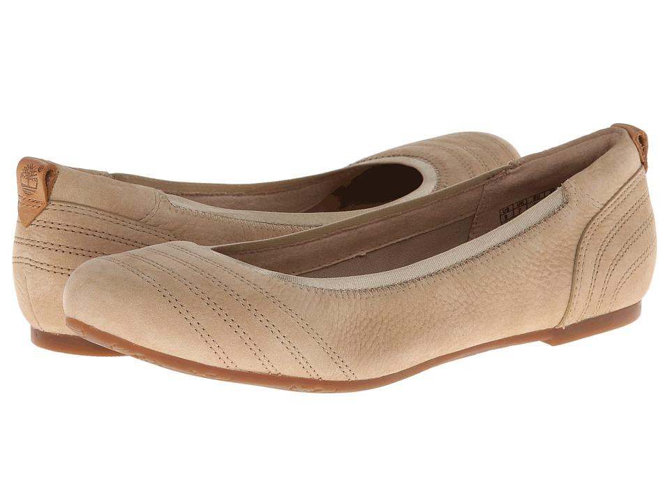Timberland - Earthkeepers Ellsworth Ballerina (Beige Nubuck) Women's Flat Shoes