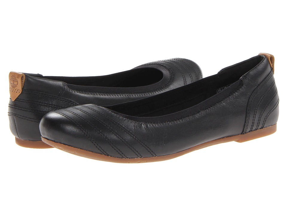 Timberland - Earthkeepers Ellsworth Ballerina (Black Full Grain) Women's Flat Shoes