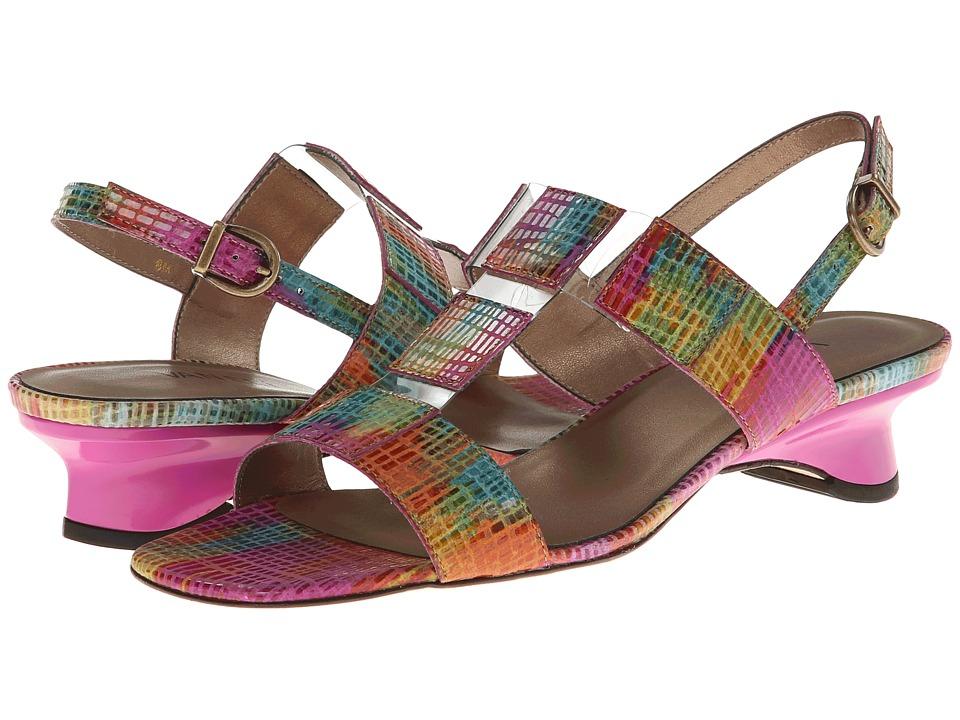 Vaneli - Berdine (Multi Fushia Blix Squama/Clear Vinyl) Women's Sandals