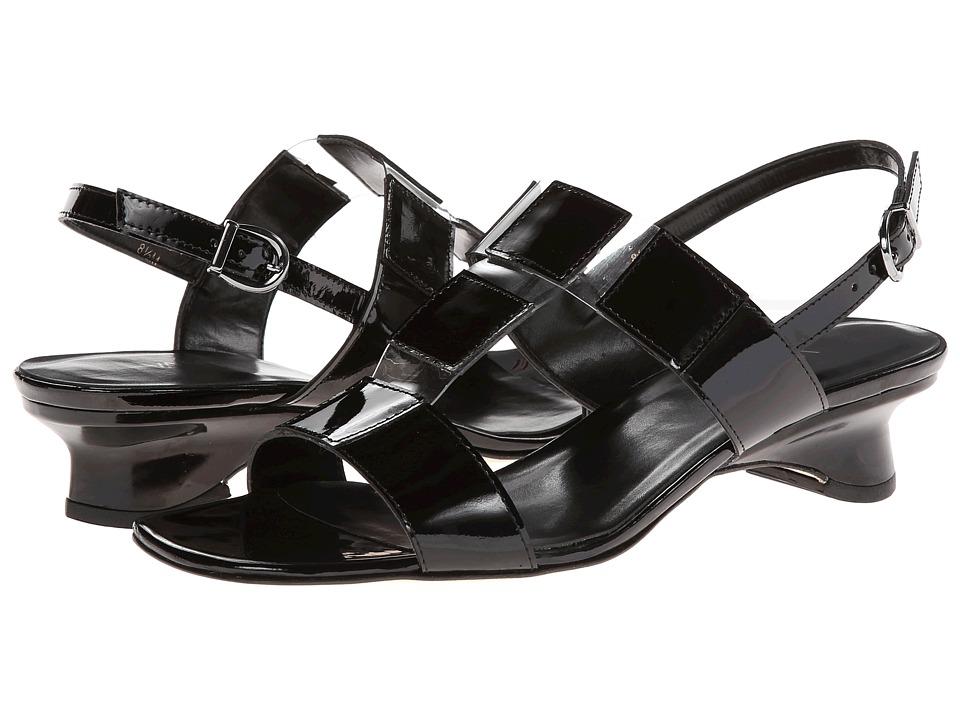 Vaneli - Berdine (Black Smack Met Patent/Clear Vinyl) Women's Sandals