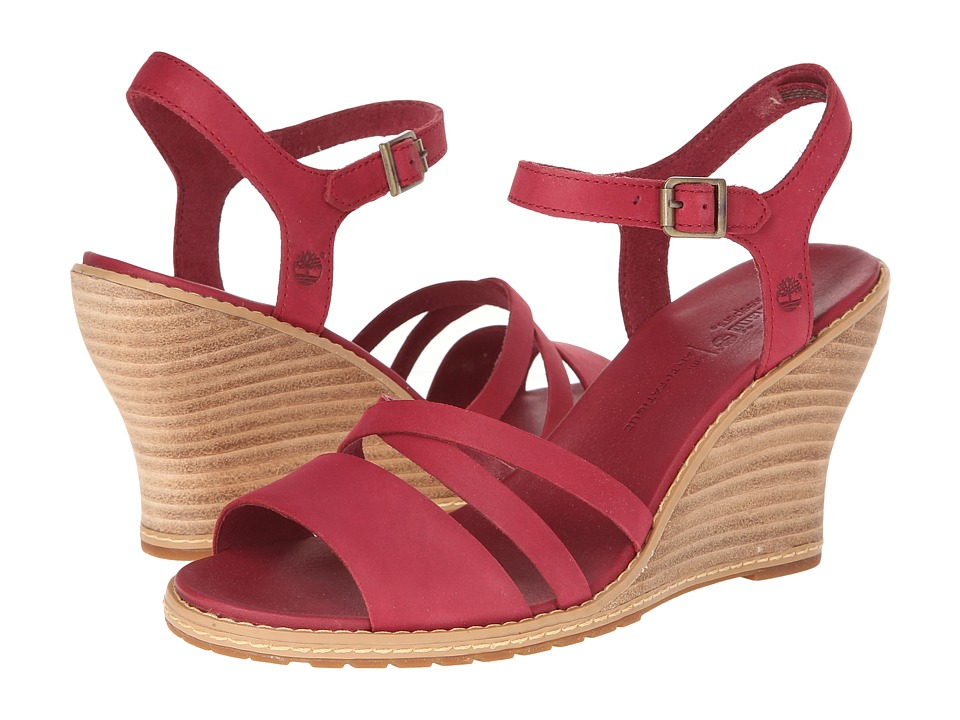 Timberland - Earthkeepers Maeslin Ankle Strap (Dark Red) Women's Shoes