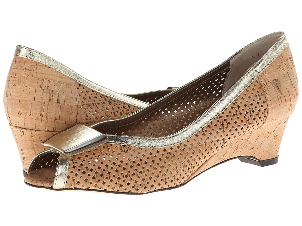 Vaneli - Bonnee (Natural Cork/Platino Met Nappa) Women's Wedge Shoes