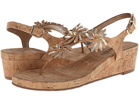 Vaneli - Kenan (Natural Cork/Platino Met Nappa) Women's Wedge Shoes
